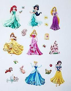 Kibi Princesas Disney Pegatinas De Pared Disney Stickers Infantiles Pared Princesas Casa De Pared Etiquetas De La Pared Niños Dormitorio Bebe, Artes Decorativas Wall Stickers 30 (W) x 90 (H) CM