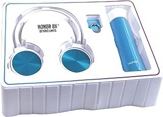 هونور سماعة سلكي على الاذن مع حمالة هواتف خلوية مع مطارة مياه ، ازرق - HW-607