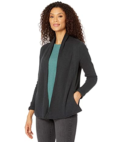 PACT Organic Cotton Cozy Cardigan (Charcoal Heather) Women