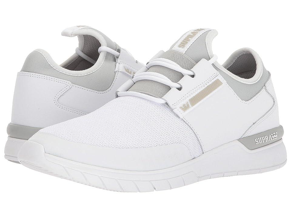Supra Flow Run (White/Light Grey/White) Men