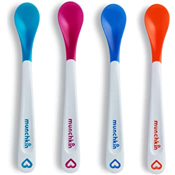 Gum Friendly BPA Lead Phthalate and Plastic Free BEABA First Stage Baby Feeding Spoon Set Cloud 4 Pack Great Gift Set The Original Soft Tip Silicone Spoons for Babies