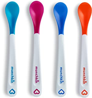Munchkin White Hot Infant Safety Spoons (Multicolor, Pack of 4)