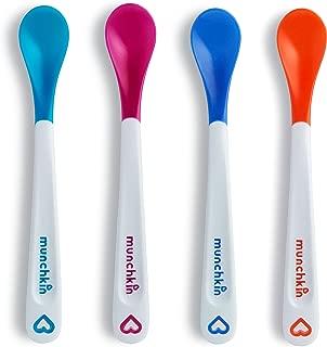美国 Munchkin 满趣健 感温安全勺 婴儿硅胶勺 软头勺4支装MK43682