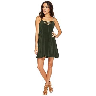 Jack by BB Dakota Radley Pleated Crisscross Front Dress (Mountain Green) Women