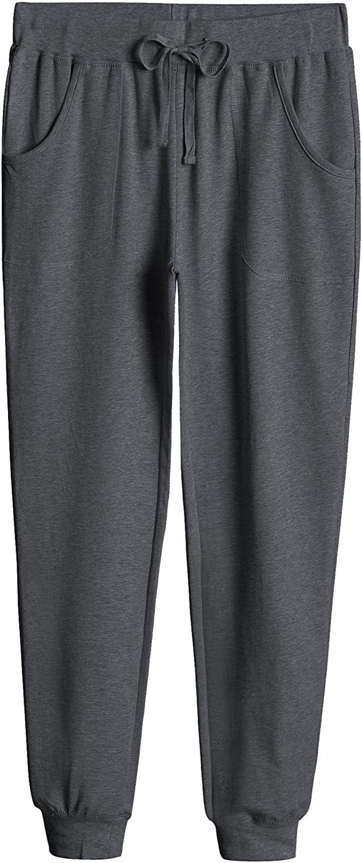 Weintee Women's Cotton Jersey Pocket Joggers
