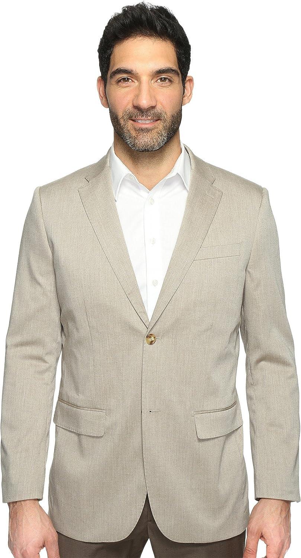 Perry Ellis Men's Heather Twill Stretch Suit Jacket