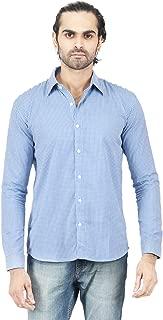 Edinwolf Man's Formal Blue cotton Shirt
