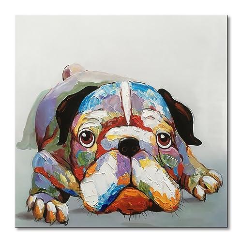 Bulldog Canvas Wall Art: Amazon com