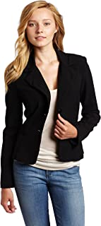 Juniors Long Sleeve Button Welt Jacket