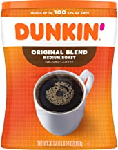 Dunkin' Original Blend Medium Roast Ground Coffee Canister, 30 Ounces