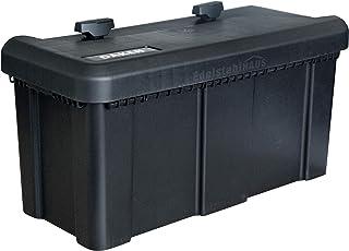 Deichselbox mit 2 Schlösser inkl. Edelstahlhaus Halter, Werkzeugkasten für Anhänger Staukiste 23 ltr Anhängerbox, Daken B23 2+MON4002