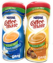 Coffee-mate Coffee Creamer Sugar Free French Vanilla and Sugar Free Hazelnut Creamer Bundle