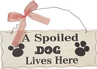 Attraction Design A Spoiled Dog Wood Folk Wisdom Plaque