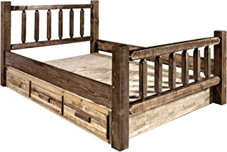 Montana Woodworks King Bed with Storage Stain & Lacquer Finish