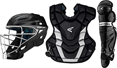 Easton Gametime Catchers Equipment Box Set | 2020 | Helmet | Chest Protector | Leg Guards | Baseball Softball | NOCSAE Approved for All Levels of Play