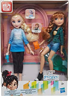 Disney Princess Ralph Breaks The Internet Movie Dolls, Elsa and Anna Dolls with Comfy Clothes and Accessories