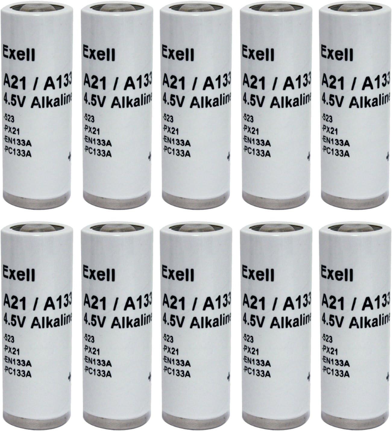 10pc Exell A21PX 4.5V Alkaline Battery 523 EN133A PC133A PX21 1306AP