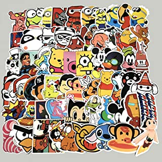 60PCS Waterproof Cute Cartoon Vinyl Stickers for Laptops Folders Water Bottle Decals Toys for Kids