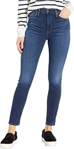 Barbara High-Rise Ankle Skinny Jeans in Baltic