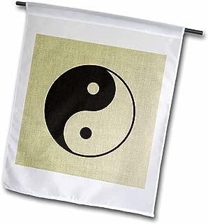 3dRose fl_162273_1 Textured Zen Yin Yang-Spirituality Garden Flag, 12 by 18-Inch