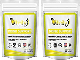 Anti Alcohol Support Supplement - Craving Support,Liver Health, Reduce Alcohol Formula - Kudzu, Milk Thistle, Holy Basil,D...