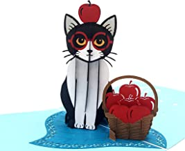 iGifts And Cards Cute Tuxedo Cat 3D Pop Up Greeting Card - Playful, Furry, Lovable, Pussycat, Active, Special, Half-Fold Happy Birthday, Just Because, Thinking of You, Mother's Day, Father's Day, Fun
