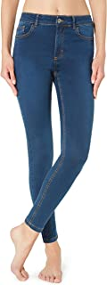 Calzedonia Damen Sexy Slim-Fit Jeans in heller Waschung