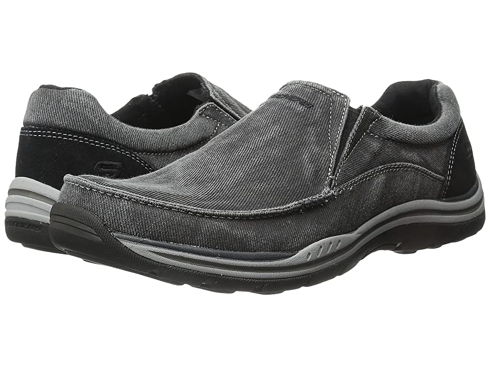 SKECHERS Expected Avillo (Black Canvas/Suede) Men