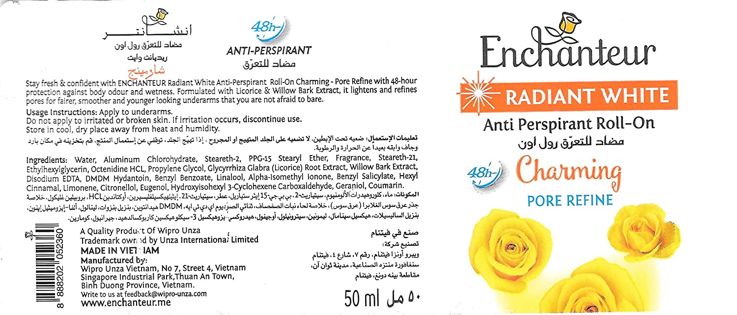 Same day shipping Import Enchanteur Anti Perspirant roll-on Charming