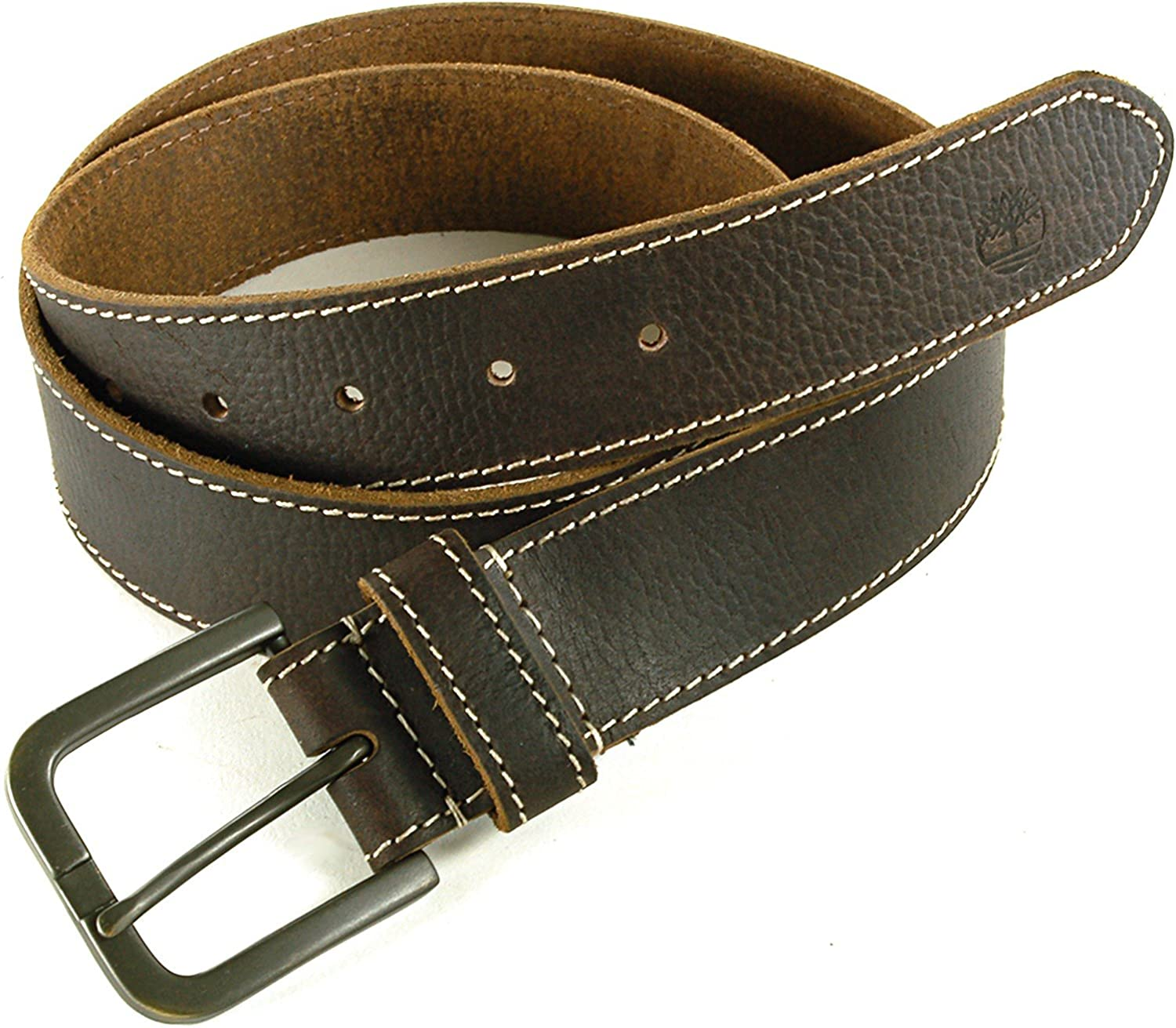 Timberland Men's Boot Leather Belt Brown 38