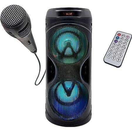 Altavoz de Suelo Portátil PBSL-141   Sintonizador Radio FM, Batería Interna de 1200mah, Potente Altavoz 10W, Bluetooth, Puerto USB, Mando a Distancia, Modo Karaoke (Micrófono Incluido)