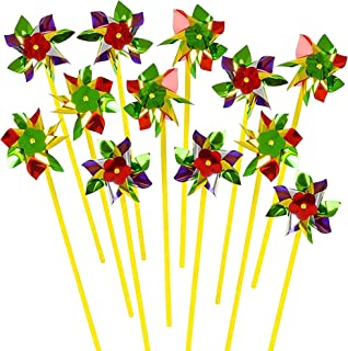 ArtCreativity 8-Point Pinwheels Set - Pack of 24 - Assorted Colors - Fun Carnival Toy and Party Favor - Amazing Gift Idea for Boys and Girls Ages 3+