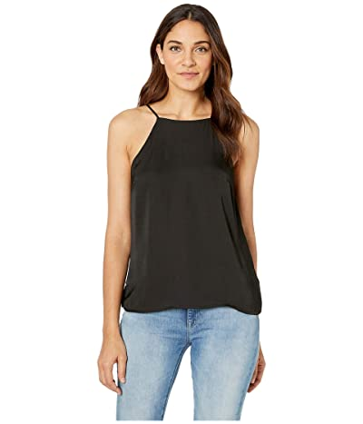 1.STATE High Neck Cami w/ Lace-Up Back Detail (Rich Black) Women