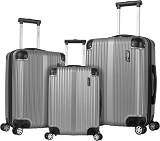 Rockland Hard Luggage, Spinner Luggage, Silver (Silver) - F236-SILVER