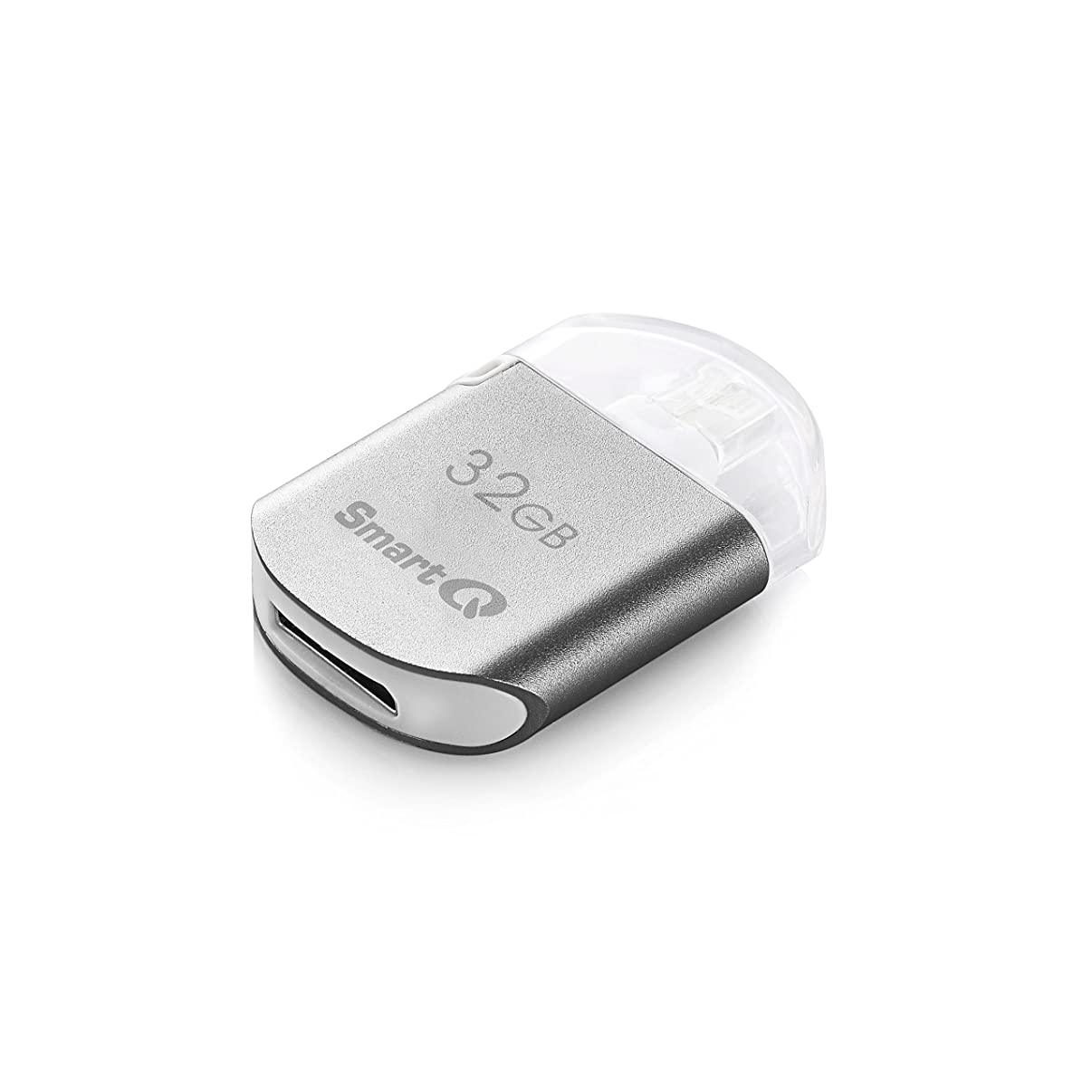 SmartQ AU606-32G MFI Certified USB Flash Drive with OTG Lightning Connector for Apple Products, for External Storage Memory Expansion Backup 32GB