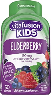 Vitafusion Kids Elderberry Gummy, 60 Count