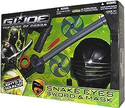 G.I. JOE RISE OF COBRA SNAKE EYES Sword & Mask with Ninja Stars