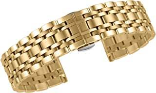 AUTULET Bracelets de Montres en métal Remplacement 316lextrémité Droite en Acier Inoxydable