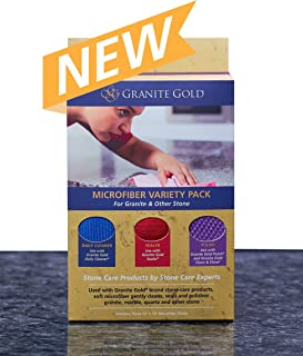 Granite Gold GG0075 Microfiber Cloths, Variety Pack, Multiple Color
