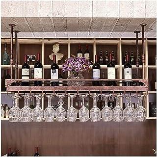 HZWLF Casier à vin de Bar, casier à vin à l'envers, casier à vin Ktv, casier à vin de Bar, Porte-gobelet Suspendu à la Mai...