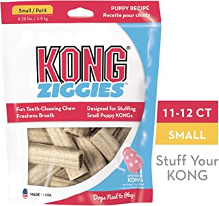 KONG - Ziggies™ Puppy - Teeth Cleaning Dog Treats - Puppy Recipe - Small (Best used with KONG Puppy Rubber Toys)