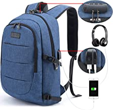 Tzowla Business Laptop Backpack Anti-Theft College Backpack with USB Charging Port and Lock 15.6 Inch Computer Backpacks for Women Men, Casual Hiking Travel Daypack (A-Blue)