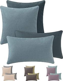 Selfitex Monaco Lot de 4 coussins de canapé avec housse et coussin de rembourrage 40 x 40 cm + 2 coussins Taille 30 x 50 cm