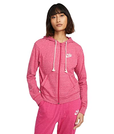 Nike NSW Gym Vintage Hoodie Full Zip (Fireberry/Sail) Women