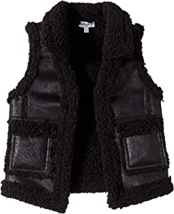 Pleather Sherpa Vest (Toddler)