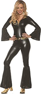 Foxy Lady Night Womens Adult Black 70S Costume