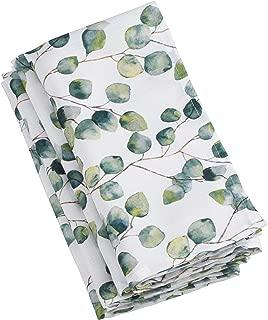 SARO LIFESTYLE 6144.EU20S Eucalipto Collection Eucalyptus Leaf Table Napkins (Set of 12), 20