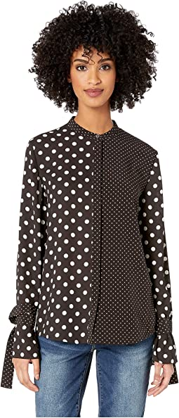 Polka Dot Mixed Top