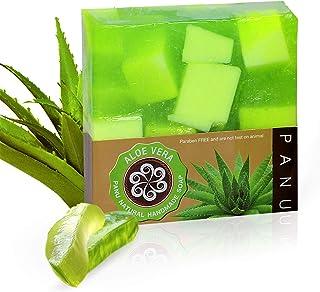 Panu Duschseife Vegan - Aloe Vera Naturseife - Körperseife für jeden Hauttyp - Haarseife Handgemacht - Festes Duschgel für Körper, Haut und Haar 2x 110g