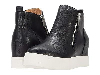 J/Slides Sky (Black Distressed Leather) Women